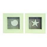 Framed Pictures Set of 2 16 x 16cm