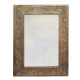 Mirror with Hand Carved Frame 52 x 70cm