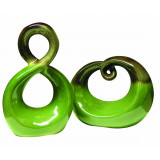 Sculpture Set of 2 Green 23cm