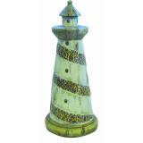 Ceramic Lighthouse with Glass Mosaic 28cm
