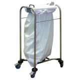Single Laundry Cart White Lid