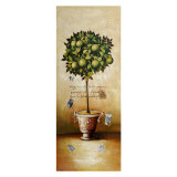 Canvas Topiary Green Fruit 100 x 40cm