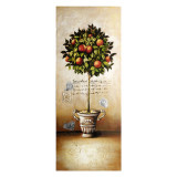 Canvas Topiary Red Fruit 100 x 40cm